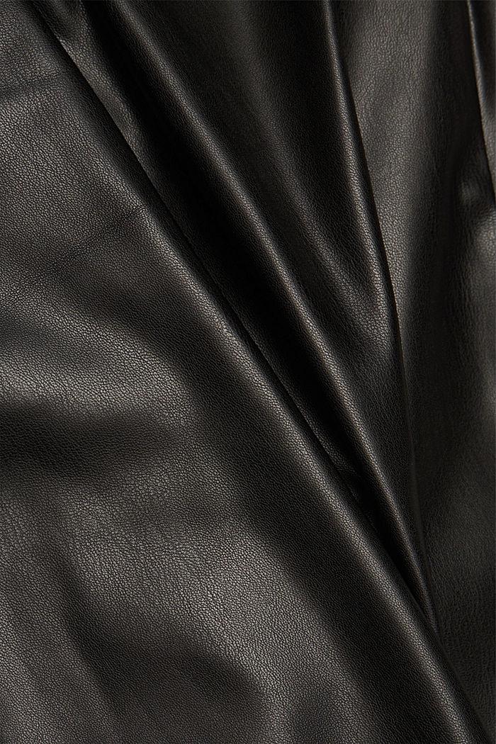 Faux leather tracksuit bottoms, BLACK, detail image number 4
