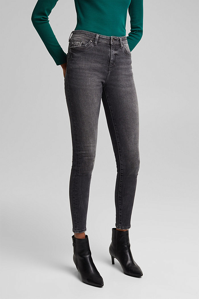 Organic cotton jeans with LENZING™ ECOVERO™, BLACK DARK WASHED, detail image number 5