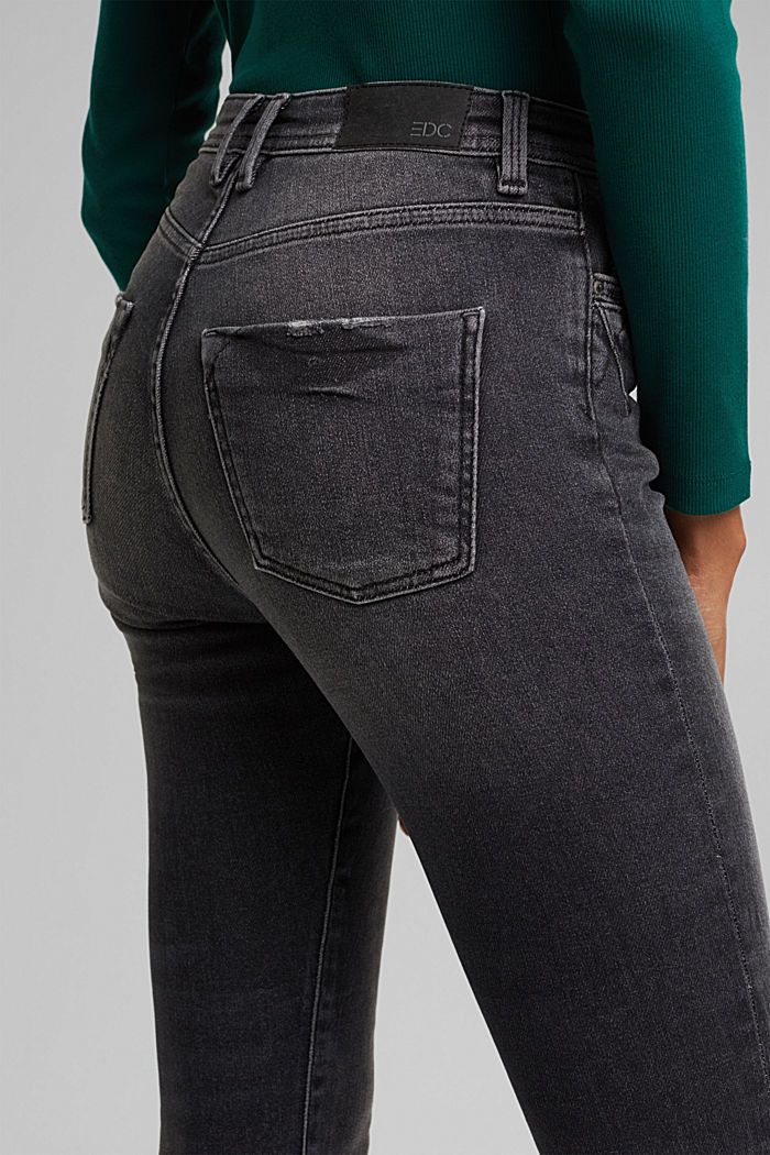 Organic cotton jeans with LENZING™ ECOVERO™, BLACK DARK WASHED, detail image number 2