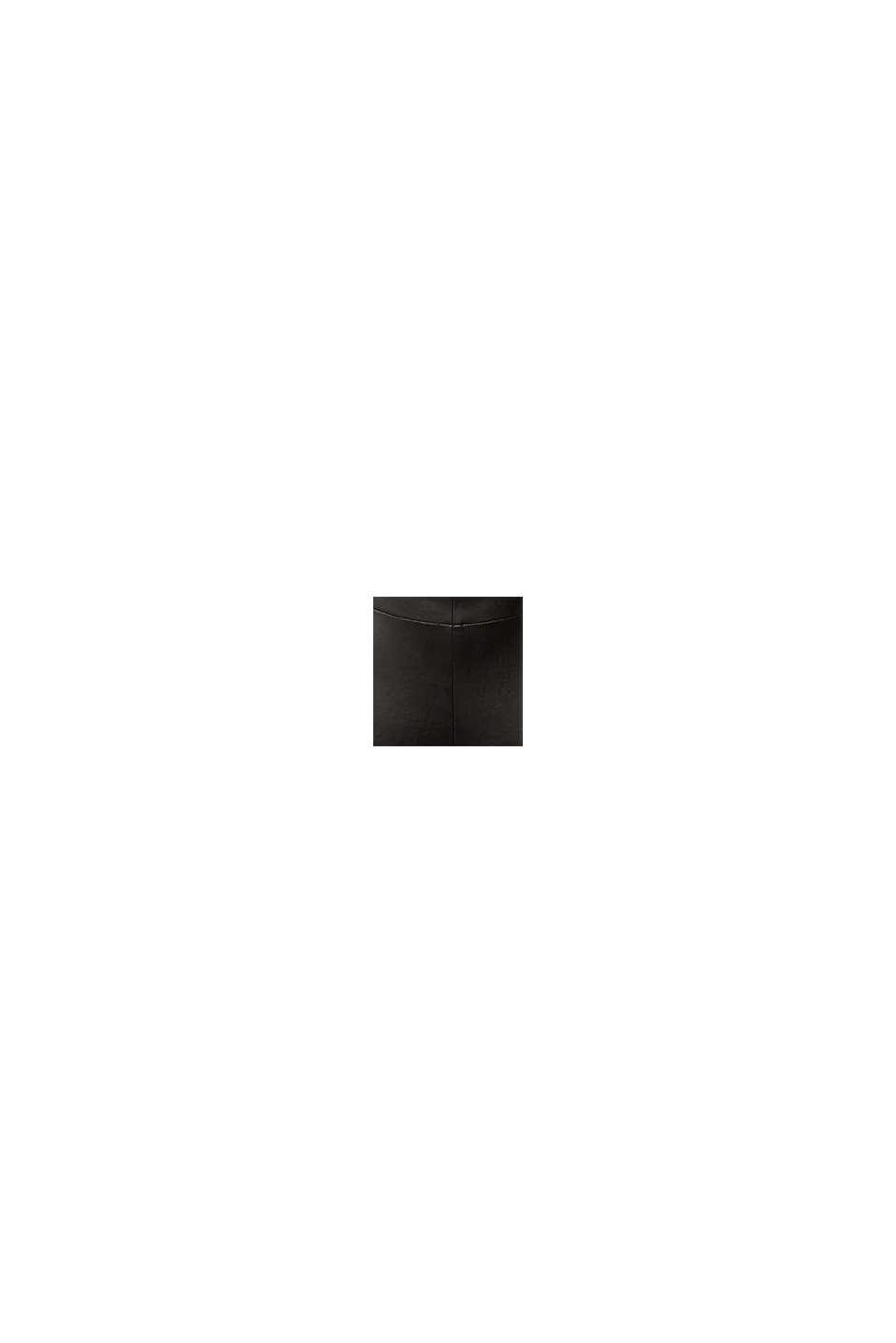 Leggings de polipiel con aberturas en las perneras, BLACK, swatch