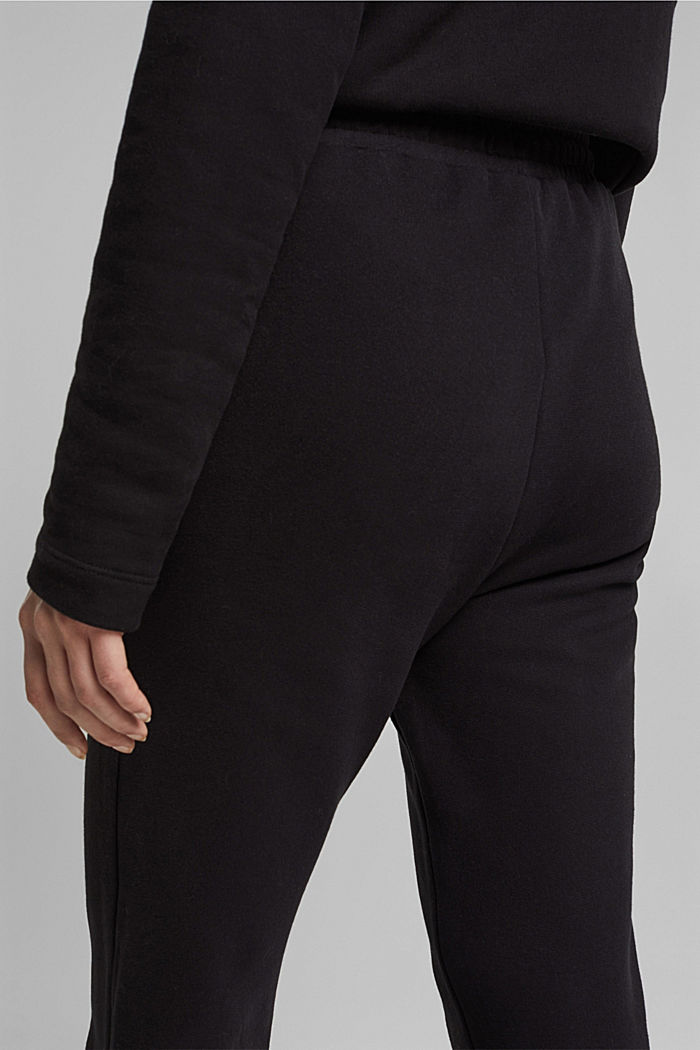Tracksuit bottoms in 100% organic cotton, BLACK, detail image number 2