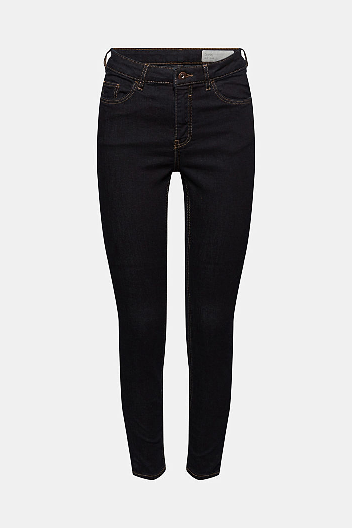 Stretch-Jeans mit Washed-Out-Effekten