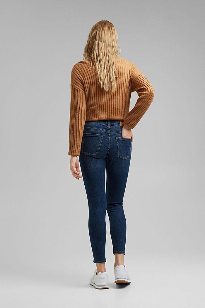 Stretch-Jeans mit Washed-Out-Effekten, BLUE DARK WASHED, detail image number 3