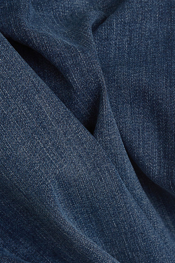 Stretch jeans with washed-out effects, BLUE DARK WASHED, detail image number 4