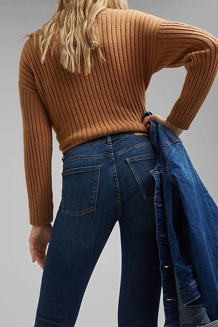 Stretch-Jeans mit Washed-Out-Effekten, BLUE DARK WASHED, detail image number 5