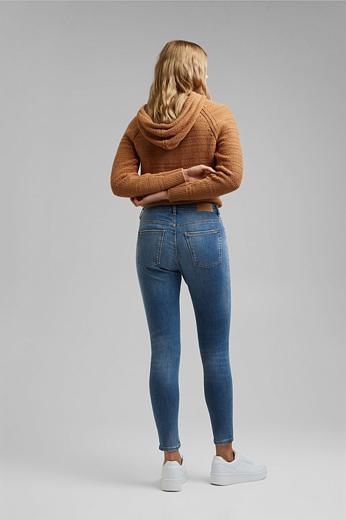 Stretch jeans with washed-out effects, BLUE MEDIUM WASHED, detail image number 3