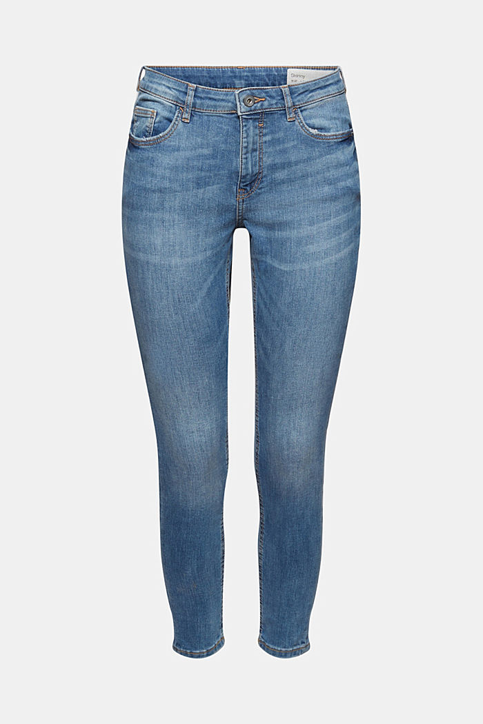 Stretch jeans with washed-out effects, BLUE MEDIUM WASHED, detail image number 5