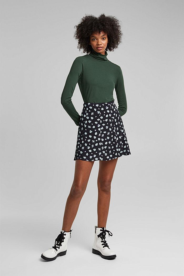 Mini skirt made of LENZING™ ECOVERO™, BLACK, detail image number 0