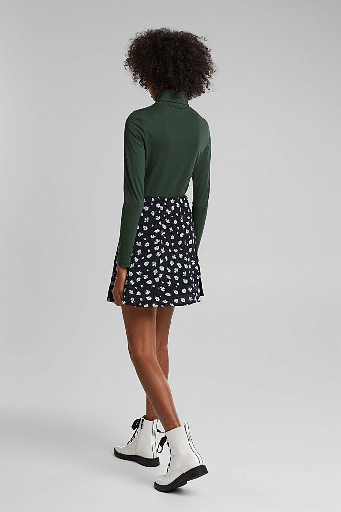 Mini skirt made of LENZING™ ECOVERO™, BLACK, detail image number 3