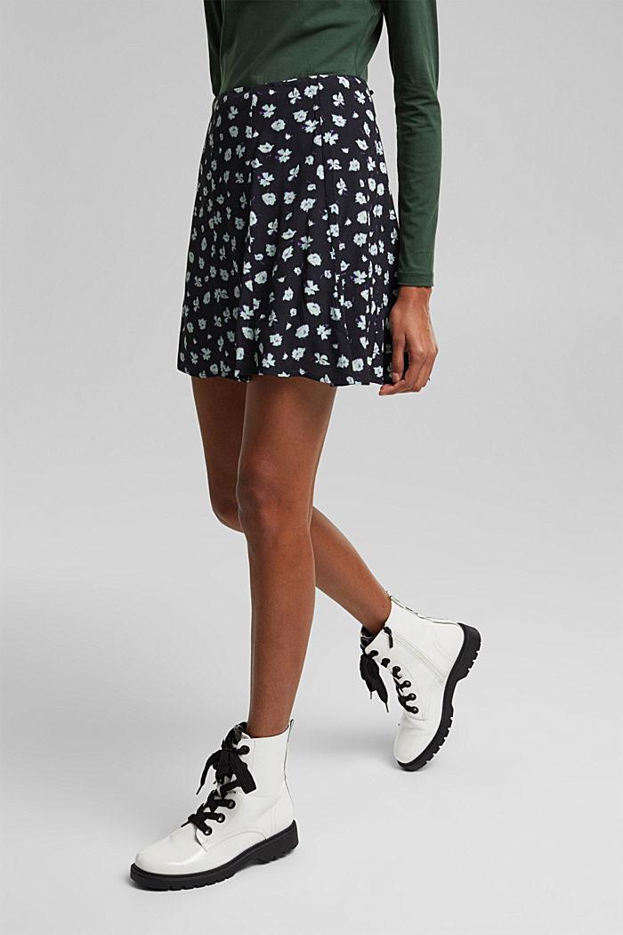 Mini skirt made of LENZING™ ECOVERO™, BLACK, detail image number 5