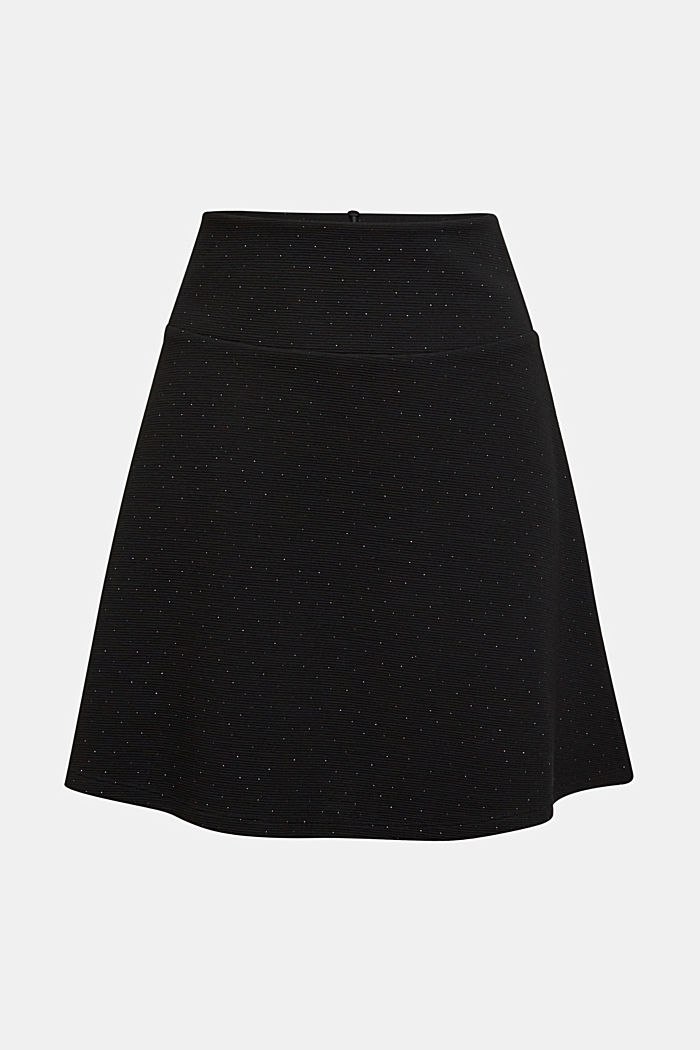 Jersey skirt with metallic effects