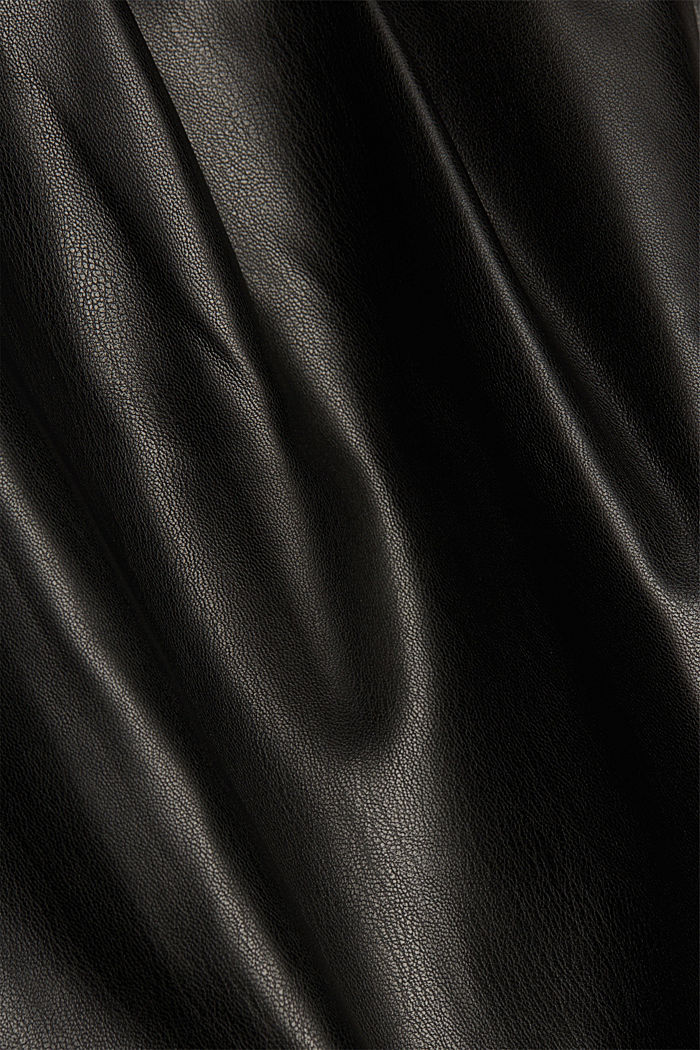 Short skirt with a faux leather belt, BLACK, detail image number 4