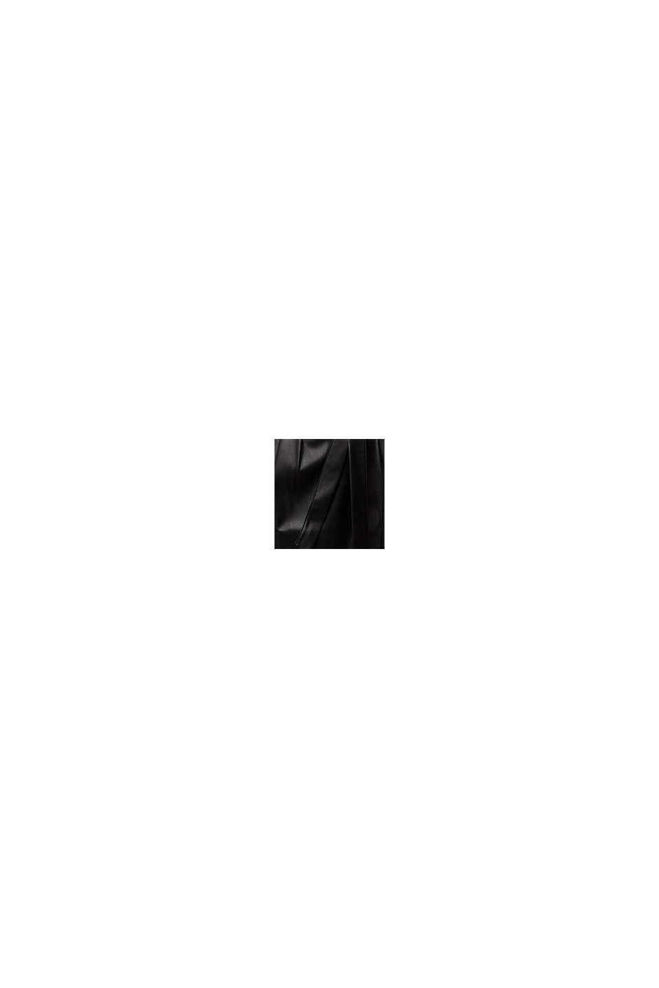 Falda corta con cinturón de polipiel, BLACK, swatch