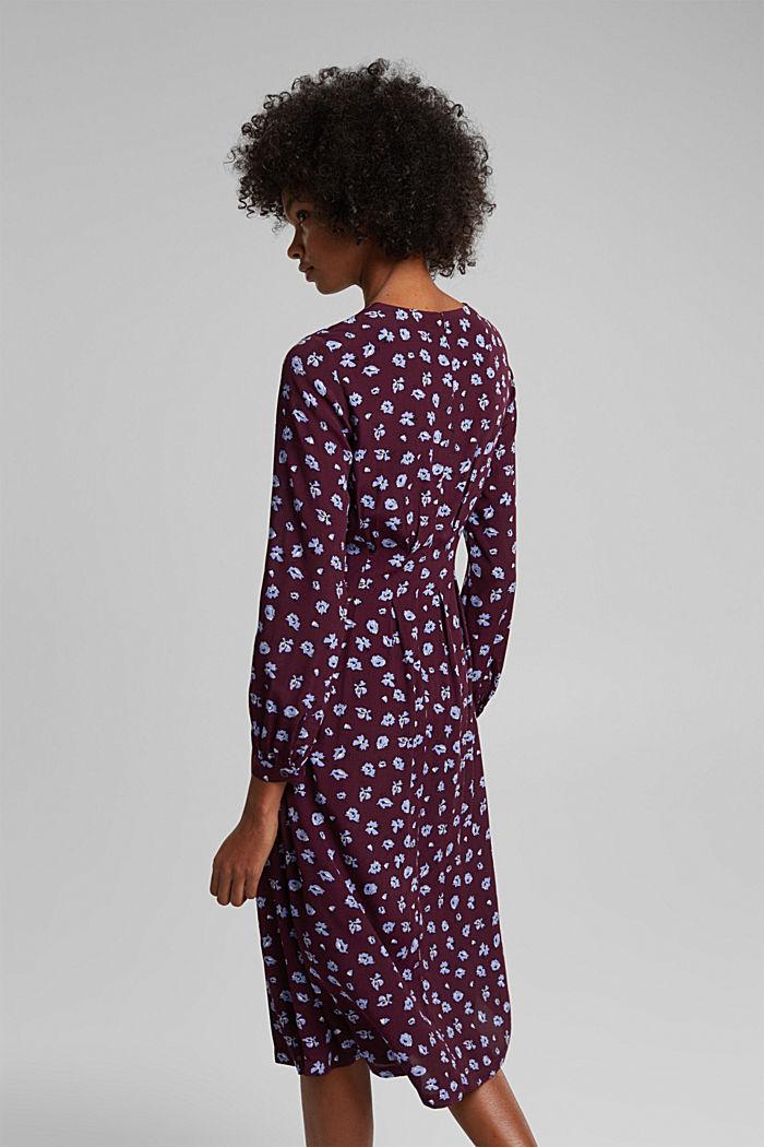 Print dress made of LENZING™ ECOVERO™, AUBERGINE, detail image number 2