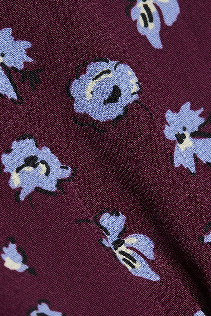 Print dress made of LENZING™ ECOVERO™, AUBERGINE, detail image number 4