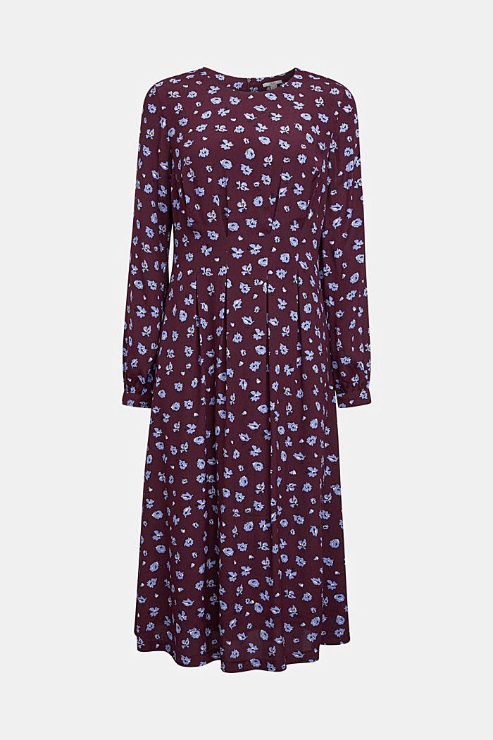 Print dress made of LENZING™ ECOVERO™, AUBERGINE, detail image number 6