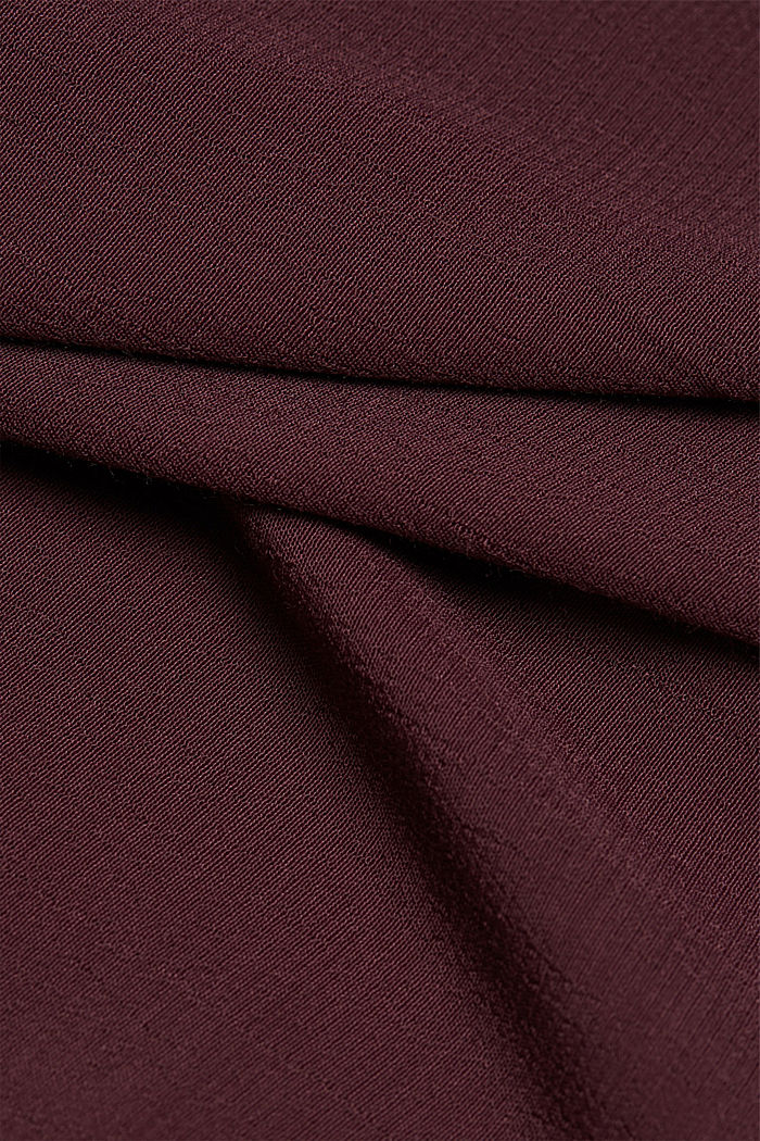 Tent dress made of LENZING™ ECOVERO™, AUBERGINE, detail image number 4
