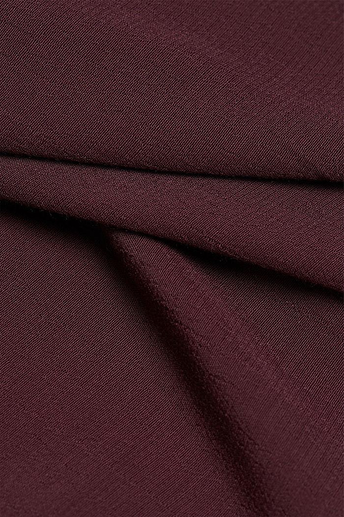 Hängerkleid aus LENZING™ ECOVERO™, AUBERGINE, detail image number 4
