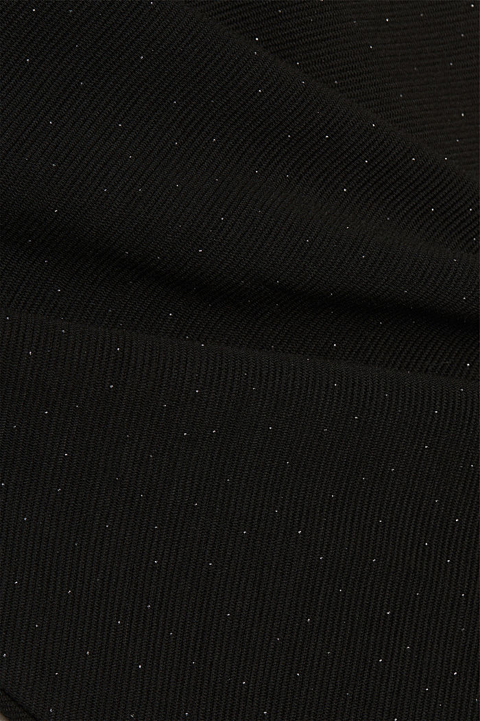 Jersey dress with glitter, BLACK, detail image number 4