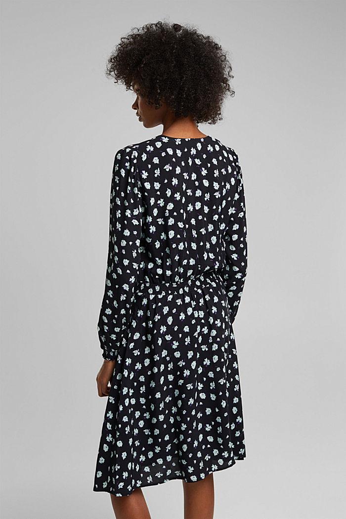 Print dress made of LENZING™ ECOVERO™, BLACK, detail image number 2