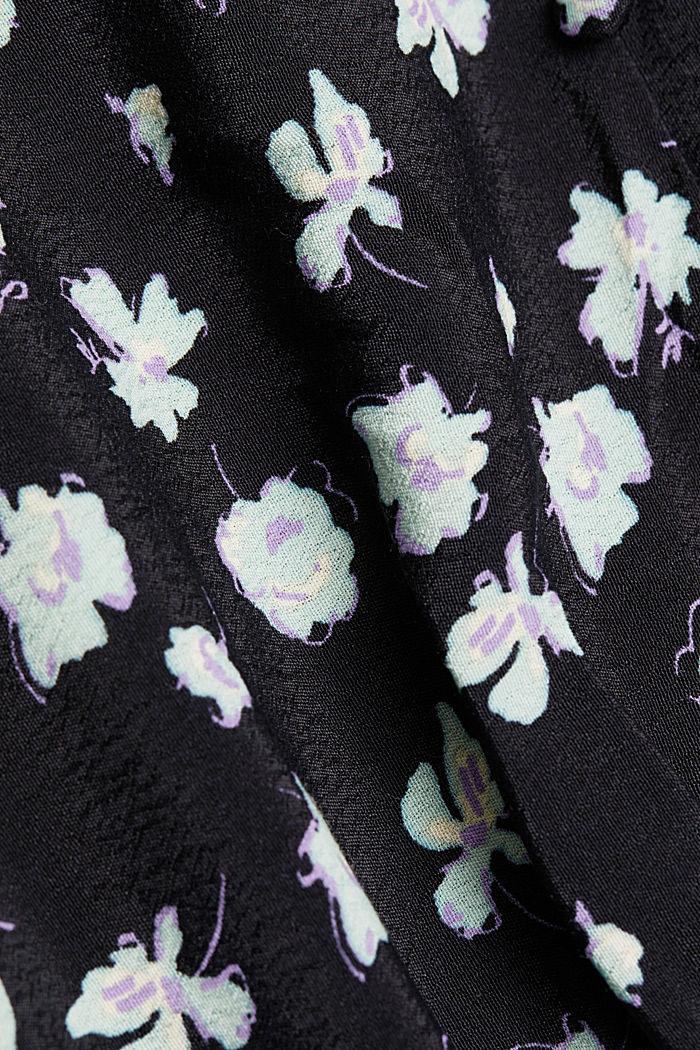 Print dress made of LENZING™ ECOVERO™, BLACK, detail image number 4