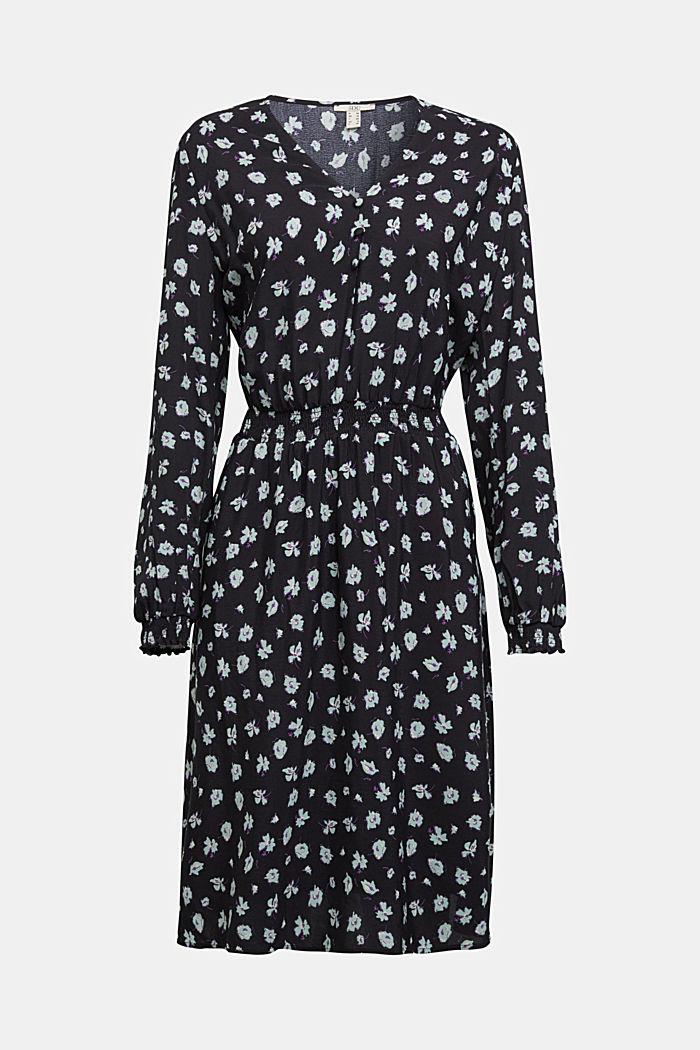 Print dress made of LENZING™ ECOVERO™, BLACK, detail image number 6