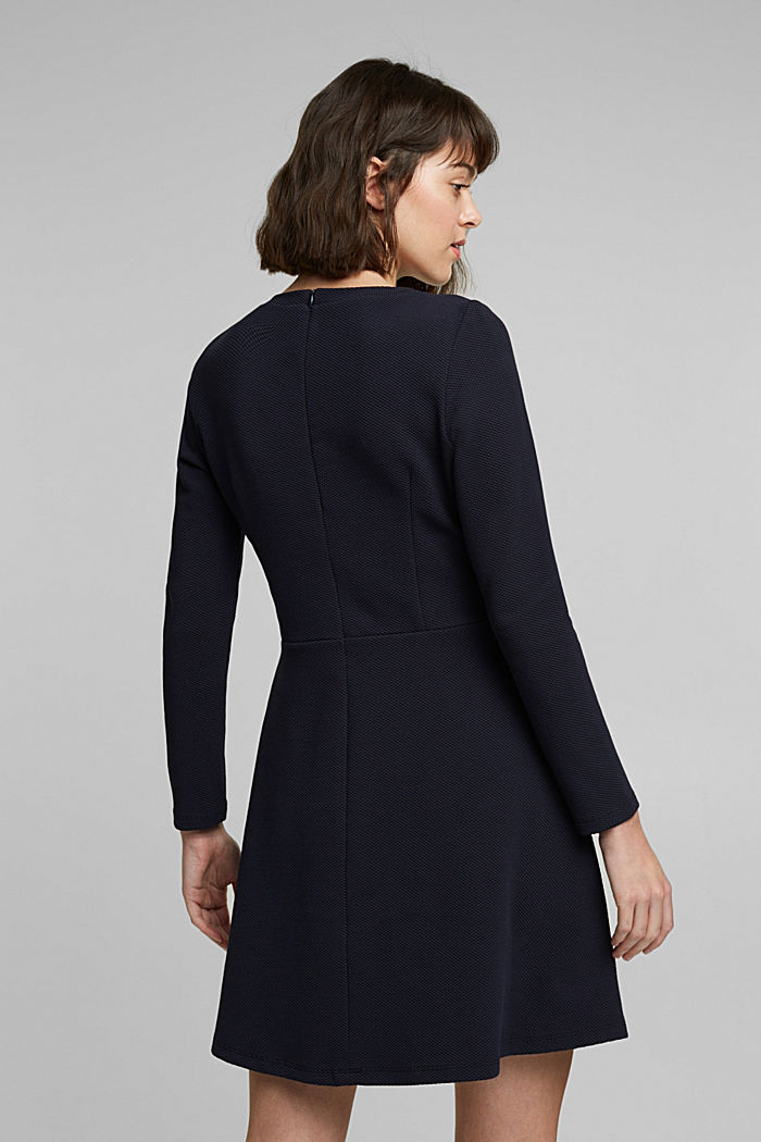 Jersey dress with organic cotton, NAVY, detail image number 2