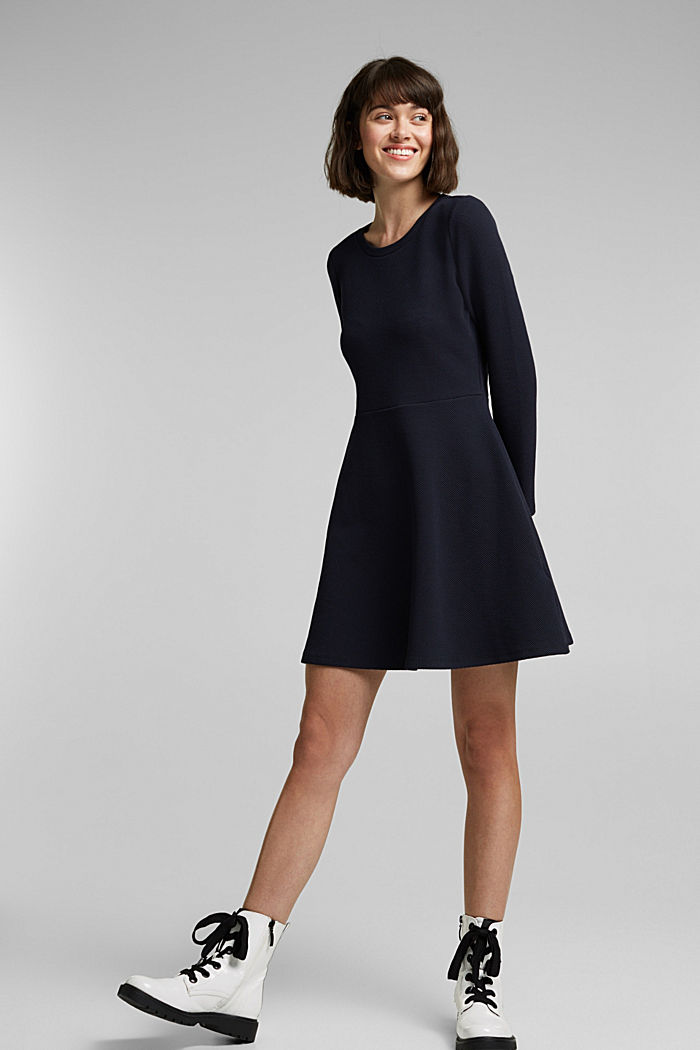 Jersey dress with organic cotton, NAVY, detail image number 1