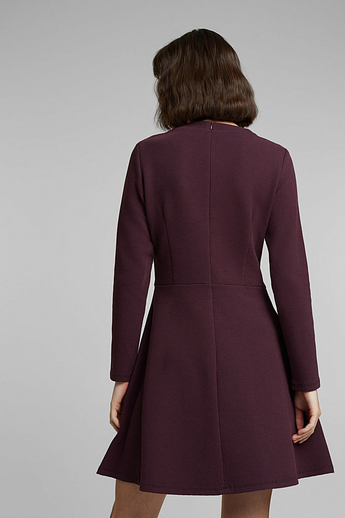 Jersey dress with organic cotton, AUBERGINE, detail image number 2