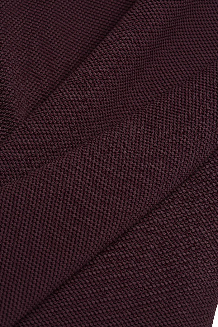 Jersey dress with organic cotton, AUBERGINE, detail image number 4