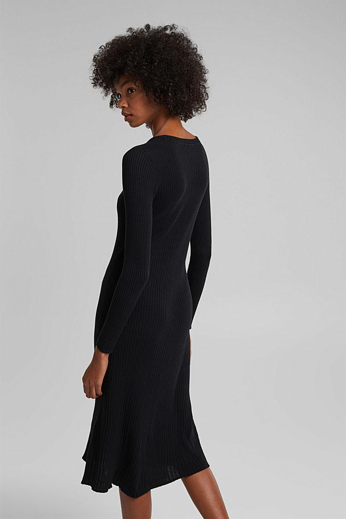 Midi dress containing organic cotton, BLACK, detail image number 2