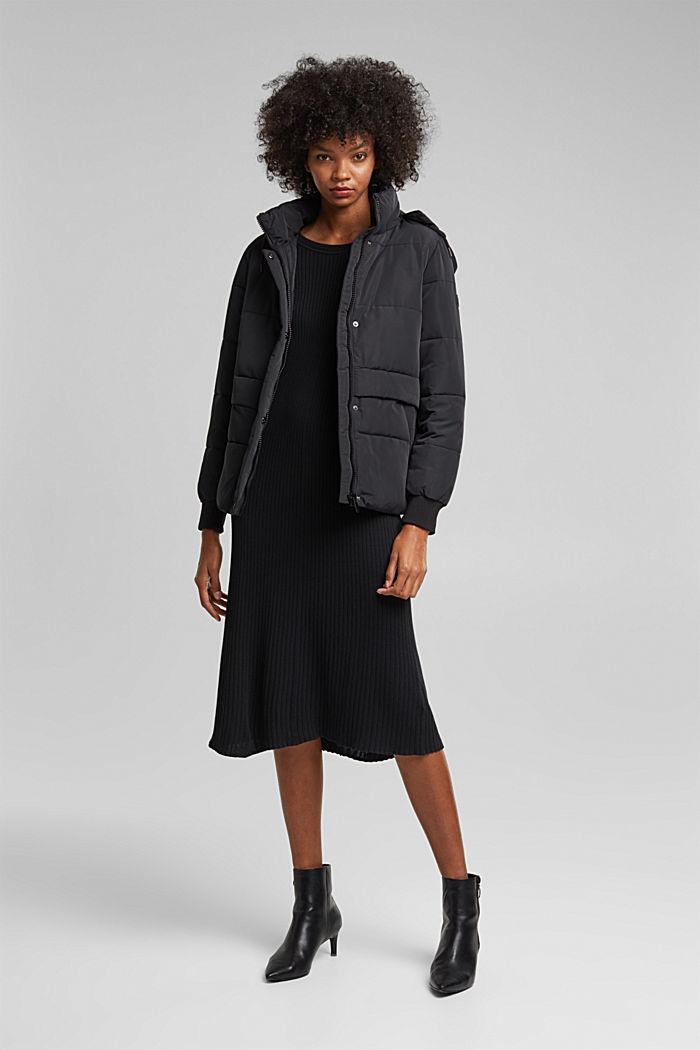 Midi dress containing organic cotton, BLACK, detail image number 1