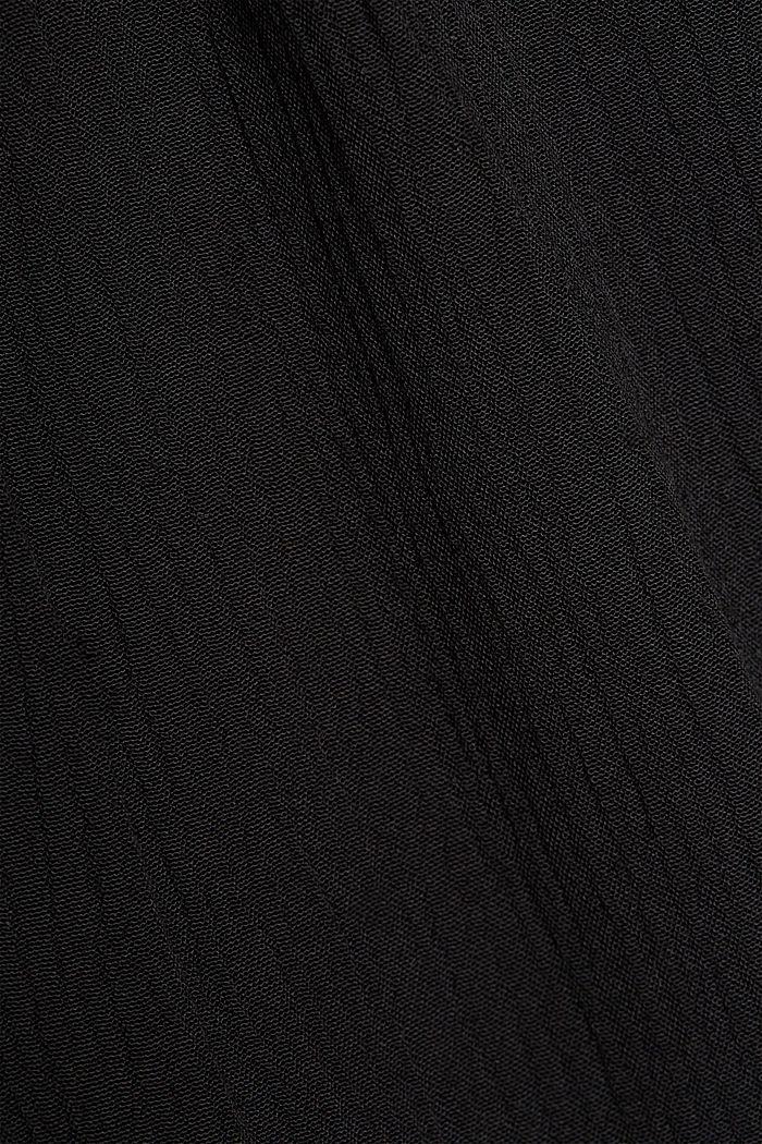Frilled dress made of 100% viscose, BLACK, detail image number 4