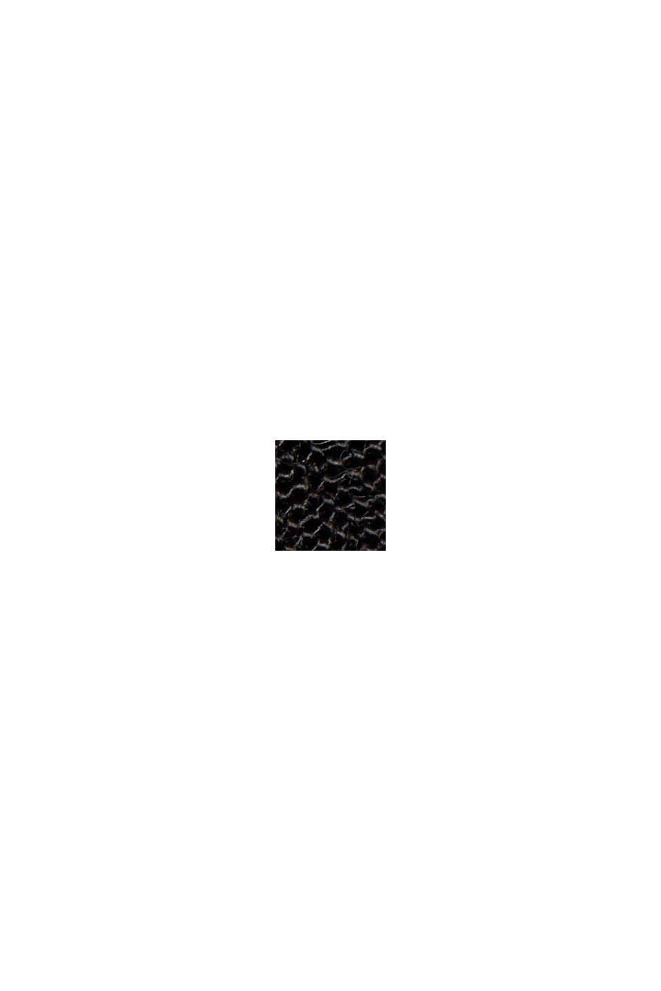 Rüschen-Kleid aus 100% Viskose, BLACK, swatch