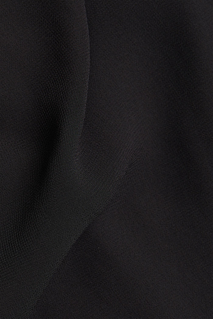 Recycled: chiffon blouse with smocked details, BLACK, detail image number 4
