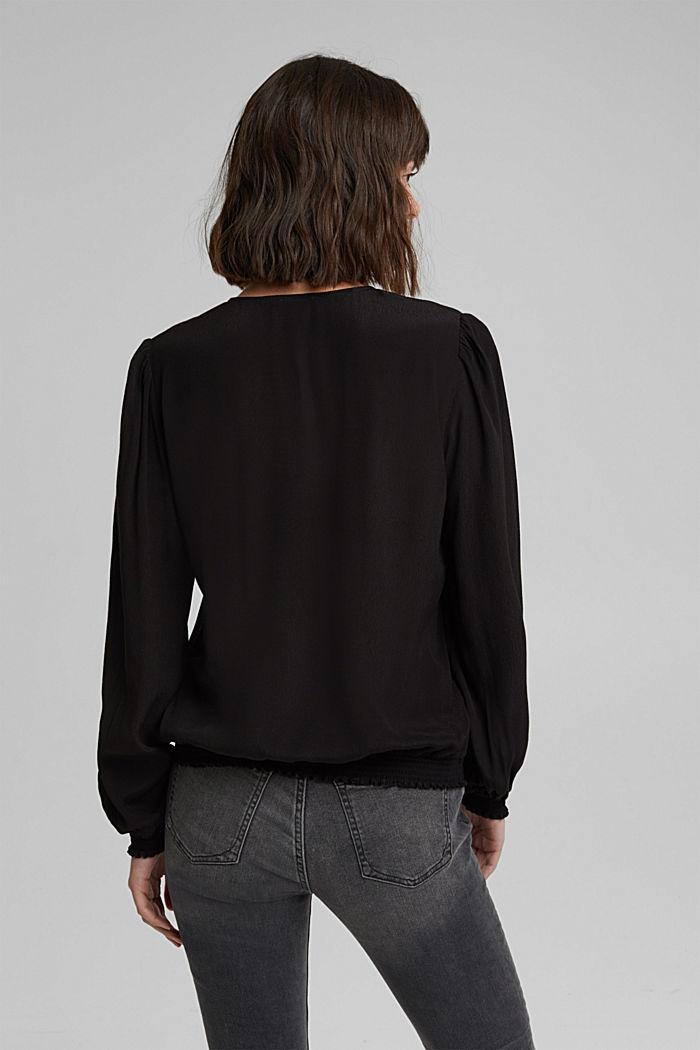 Bluse aus LENZING™ ECOVERO™, BLACK, detail image number 3