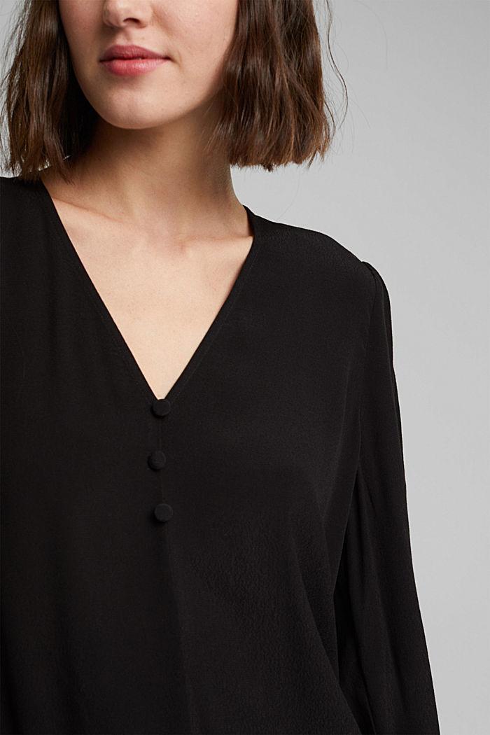Bluse aus LENZING™ ECOVERO™, BLACK, detail image number 2