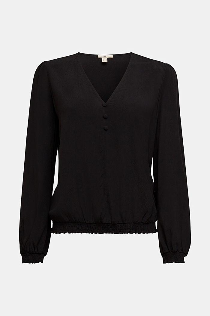 Bluse aus LENZING™ ECOVERO™, BLACK, detail image number 6