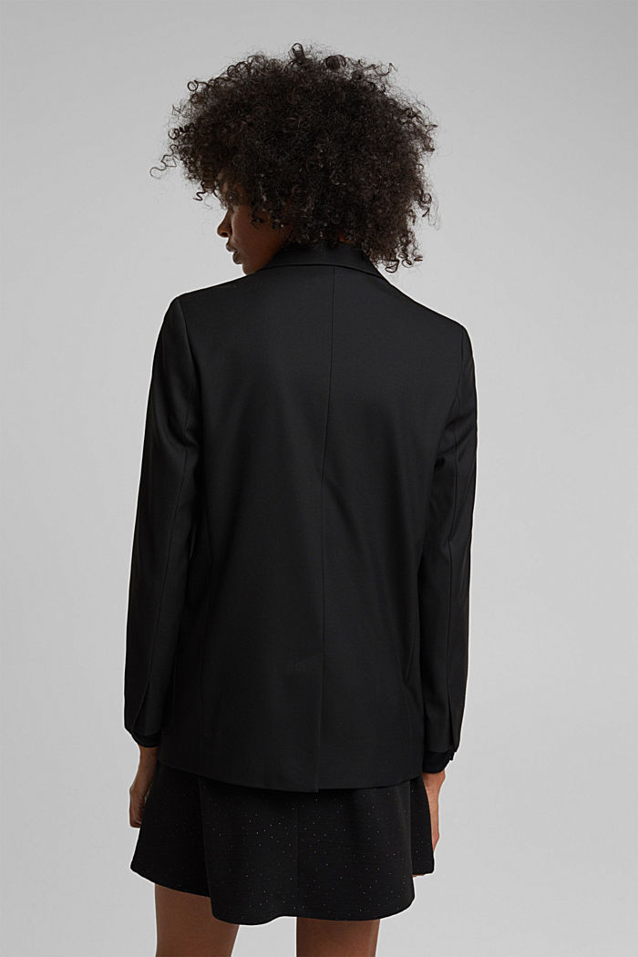 Oversized blazer with stretch for comfort, BLACK, detail image number 3