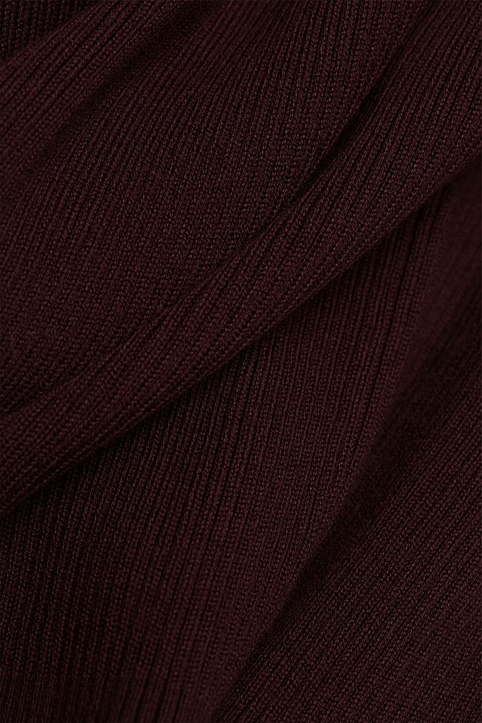 Polo neck jumper with organic cotton, AUBERGINE, detail image number 4