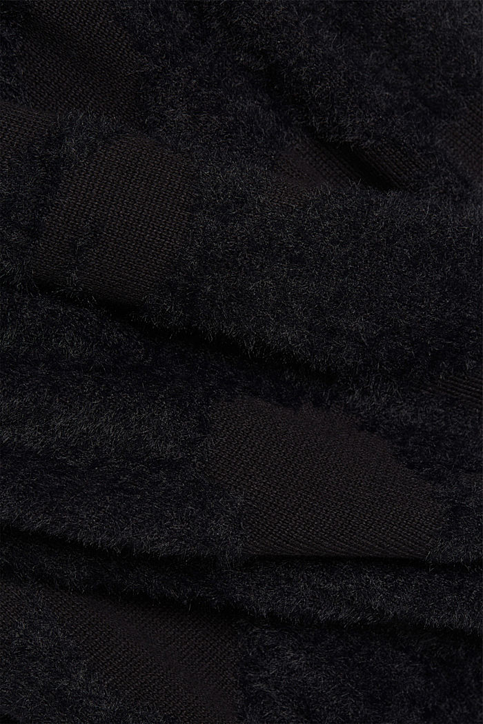Jacquard cardigan with organic cotton, BLACK, detail image number 4