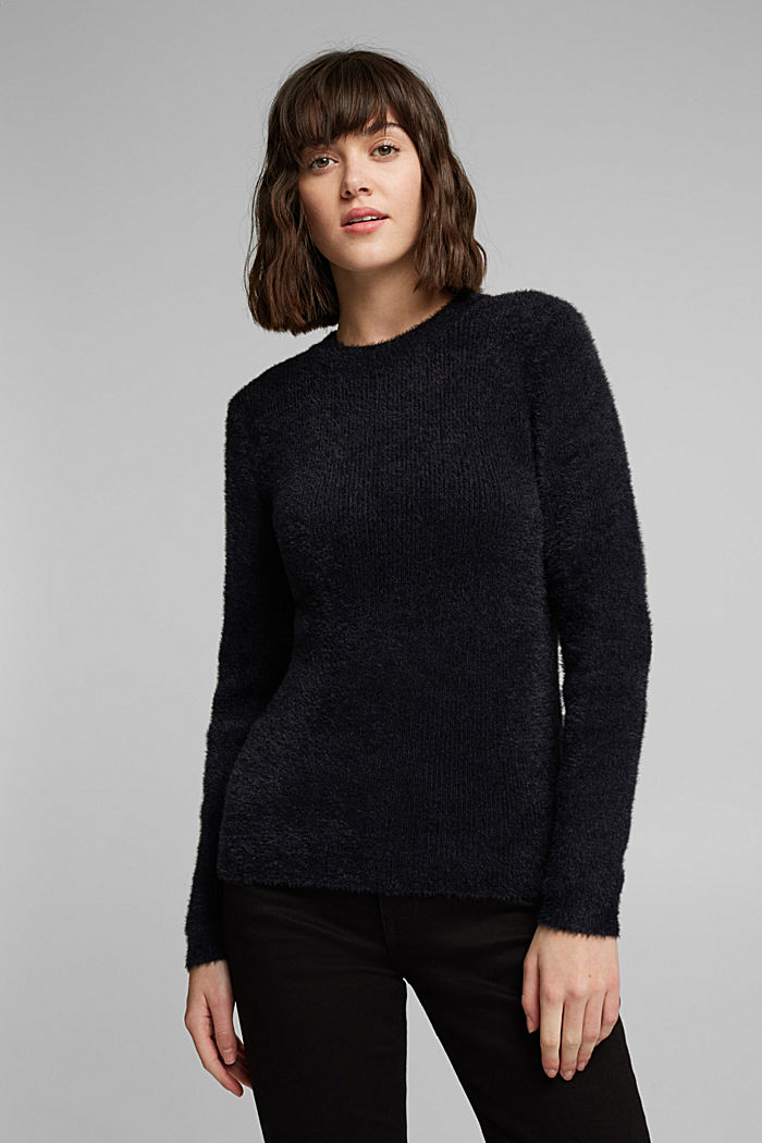 Pullover con cotone biologico, BLACK, overview