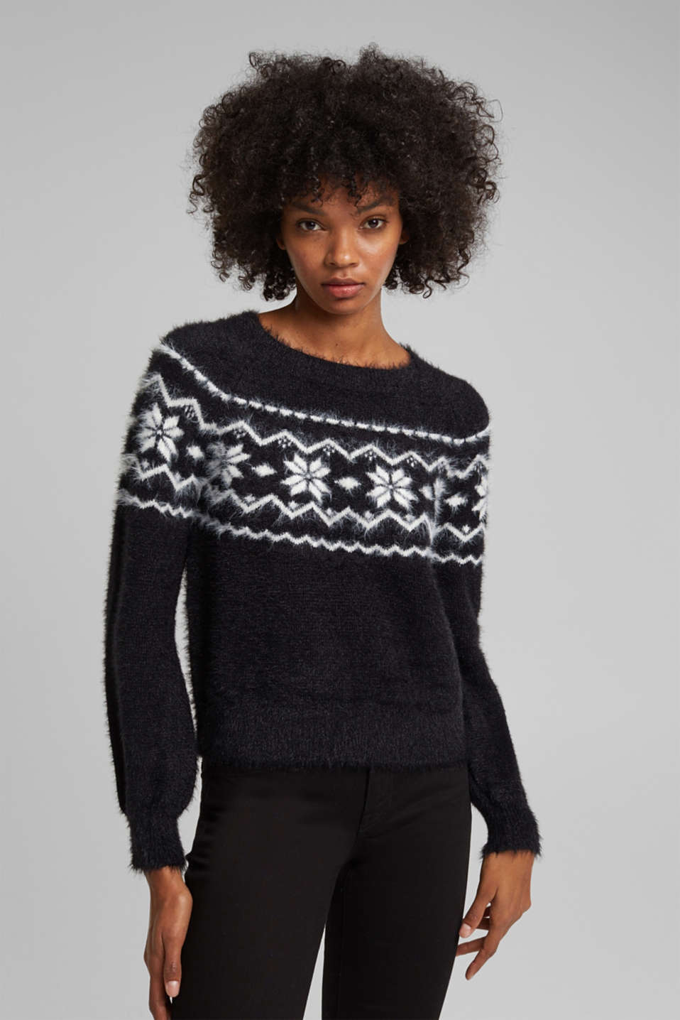 edc - Fair Isle jumper with organic cotton