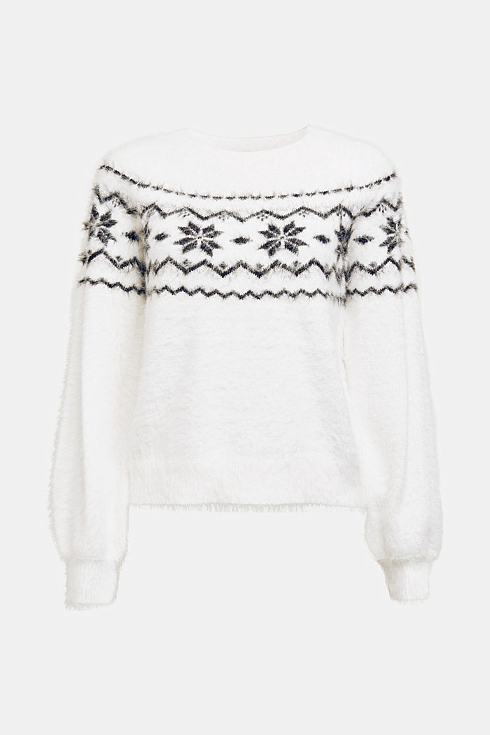 Norweger-Pullover mit Organic Cotton, WHITE, detail image number 6