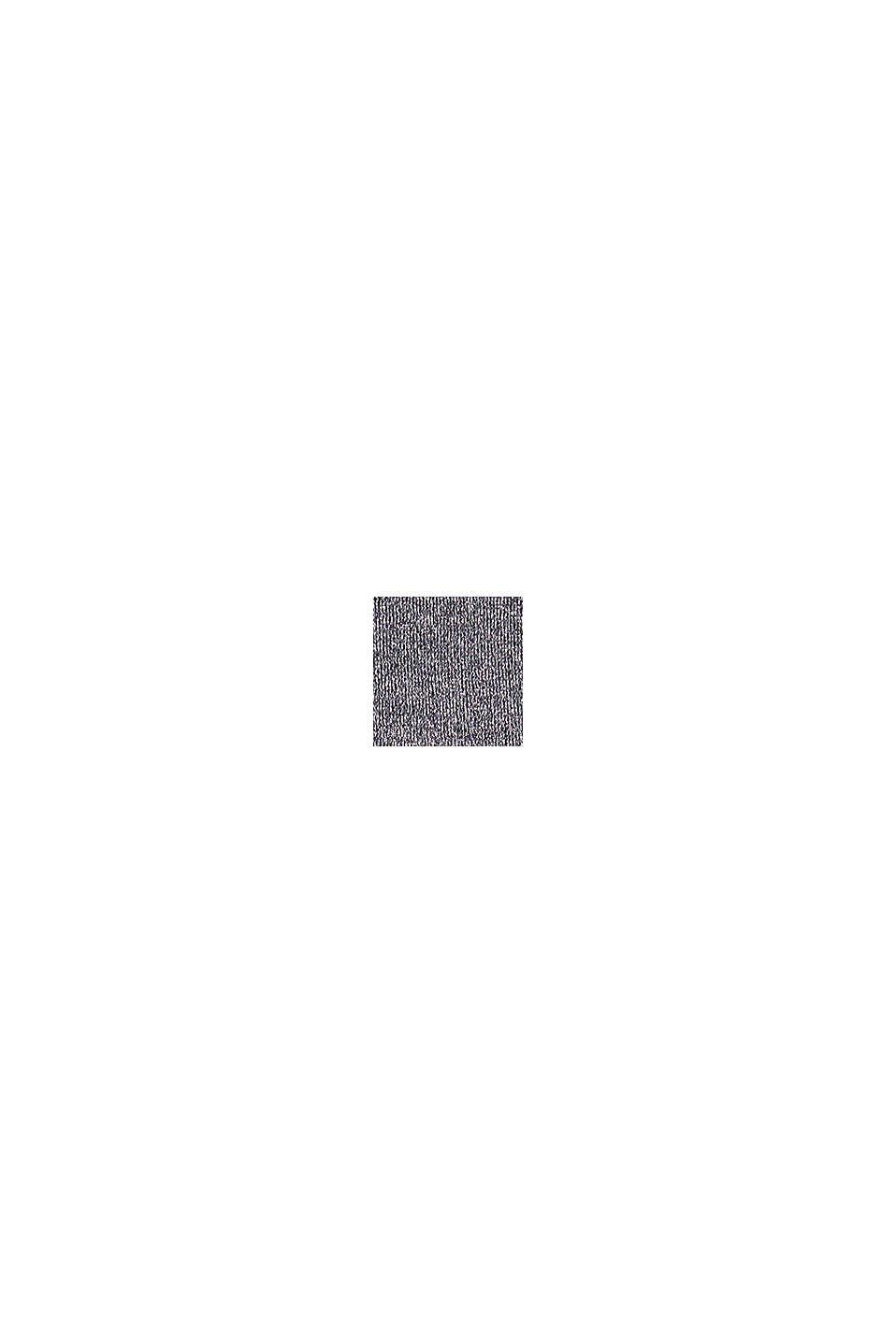 Lurex-Pullover mit Organic Cotton, GUNMETAL, swatch