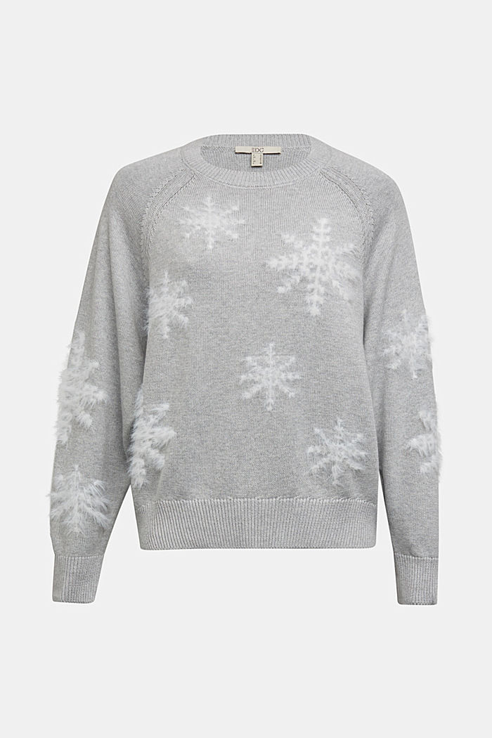Motif jumper with organic cotton, LIGHT GREY, detail image number 5