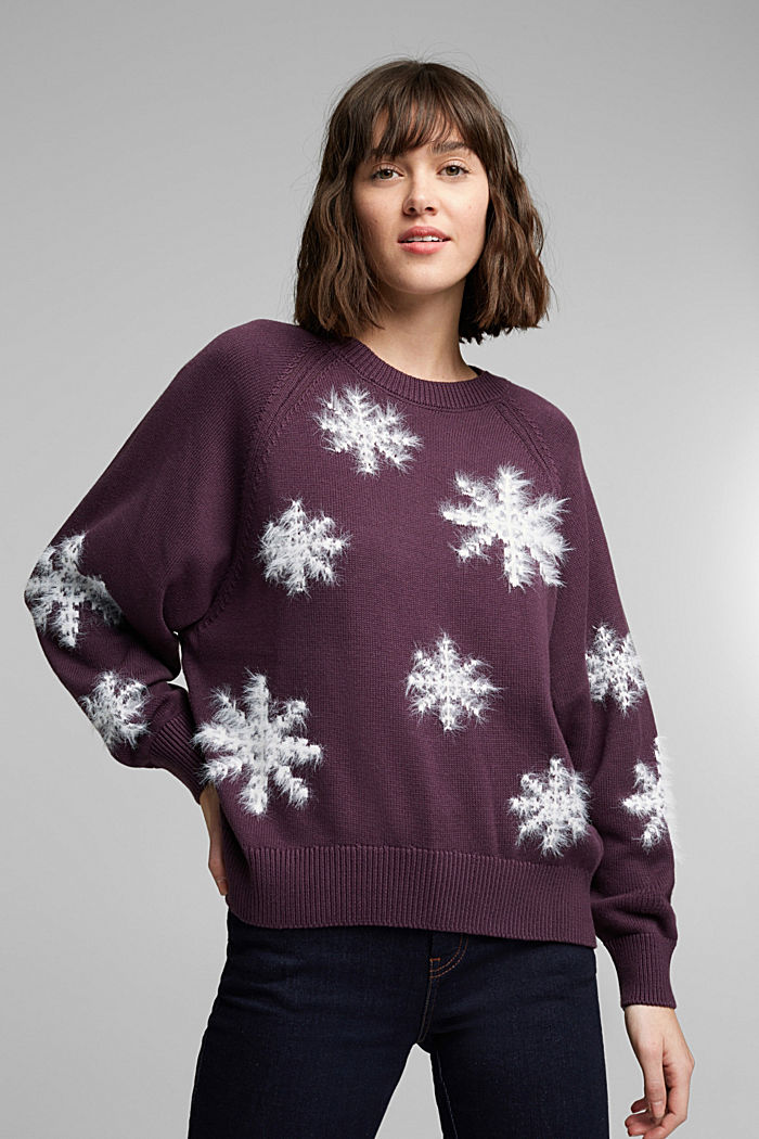 Motif jumper with organic cotton