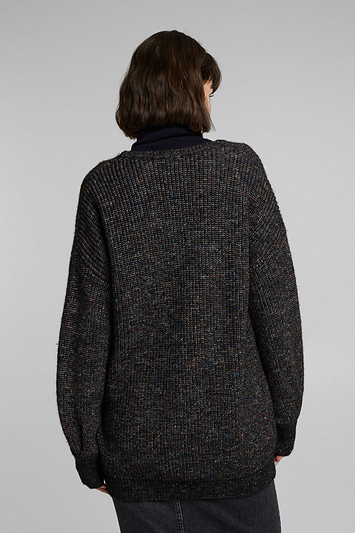 Wool: glittering, multi-colour jumper, GUNMETAL, detail image number 3