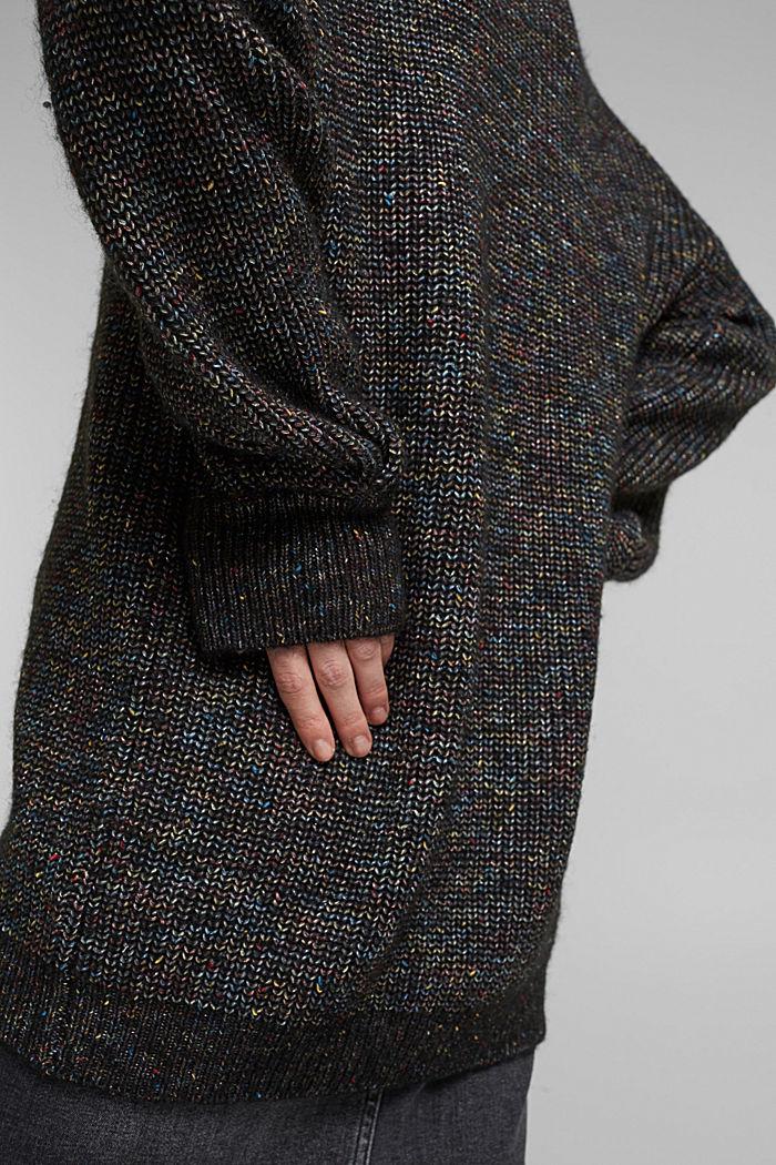 Wool: glittering, multi-colour jumper, GUNMETAL, detail image number 2