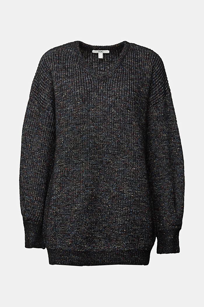 Wool: glittering, multi-colour jumper, GUNMETAL, detail image number 6